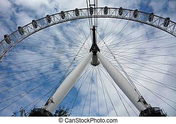 London Eye/Millennium wheel against