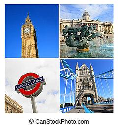 London famouse places, collage