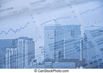 London financial district image with brands removed and ...