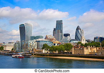 London financial district skyline Square Mile England