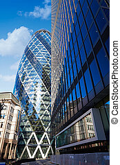 London financial district street Square Mile UK - London...