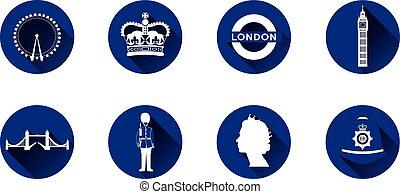 London Flat Icon Set
