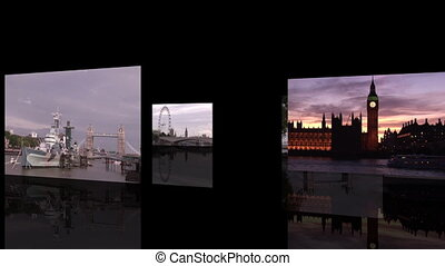 London Footage Montage - Postcard Scenes of London in Europe
