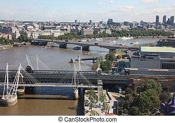 London from London Eye, UK