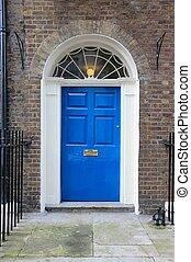 London Georgian door - London, United Kingdom - typical...