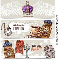 London Horizontal Banners