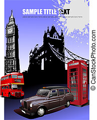 London images background. Vector illustration