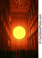 London - January 21, 2004: Eliasson's The Weather Project, ...