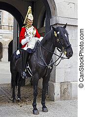 LONDON, JULY 28, 2010: Guard royal in Buckingham Palace, London, UK