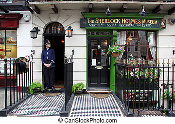 LONDON - JUN 6: Sherlok Holmes Museum in Baker street 221b ...