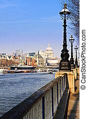 london, kilátás, alapján, south part