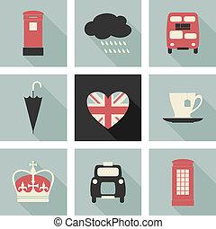 london, kollektion, ikonen