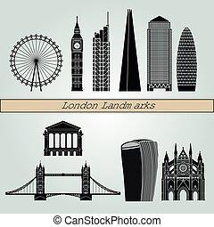 london, landemærker, v2
