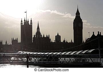 London Landmark Silhouette