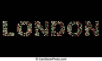 london, leuchtdiode, text