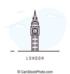 London line style - London city line style illustration. Big...