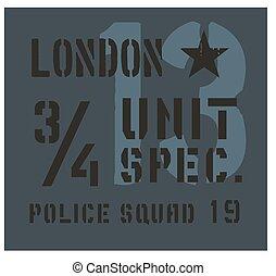 London military plate design