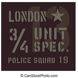 London military plate design