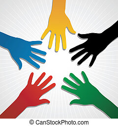 London Olympic Games Hands 2012 - Hand silhouettes in...