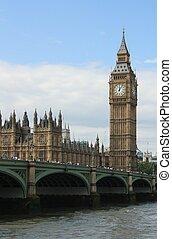 london, parlament, und, big ben