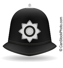 london police helmet illustration isolated on white...