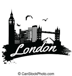 London poster - London in vitage style poster, vector...