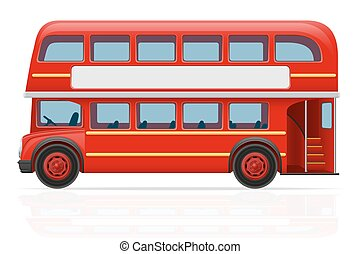 london red bus vector illustration