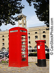 London Red Telephone Booth and Post box