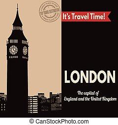 London, retro touristic poster