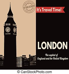 London, retro touristic poster