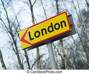 London Road Sign