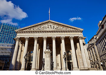 London Royal exchange building financial district - London...