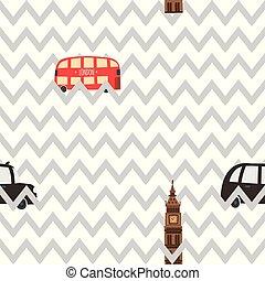 London seamless zig zag pattern