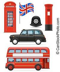 london set icons vector illustration