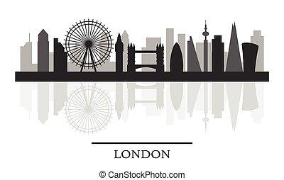 London Skyline Black And White Stylish Silhouette