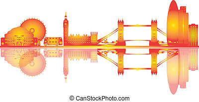London skyline illustration drawing