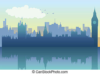 London Skyline - Illustration of London skyline in...