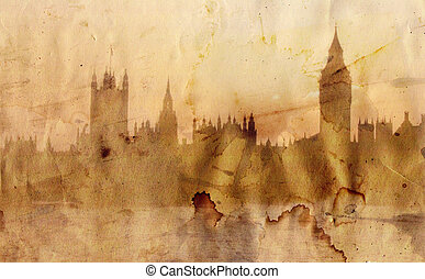 London skyline in artistic style - London skyline - Big Ben...