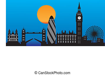 london skyline in detail