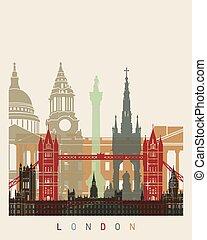 London skyline poster