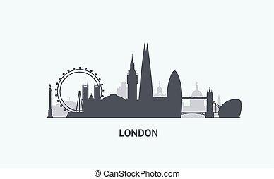 London  skyline silhouette