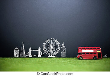 London skyline tourism background