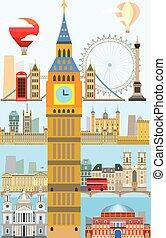 London skyline vector 10