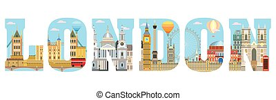 London skyline vector 11