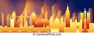 London skyline vector 16