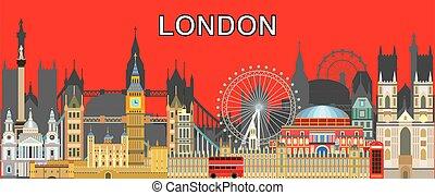 London skyline vector 17