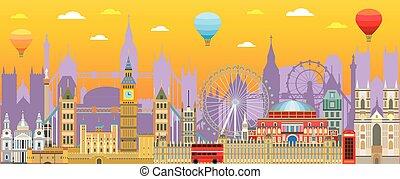 London skyline vector 19