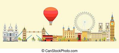 London skyline vector 5