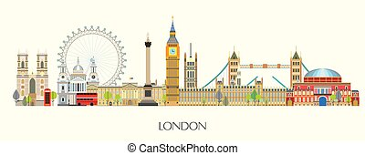 London skyline vector 7