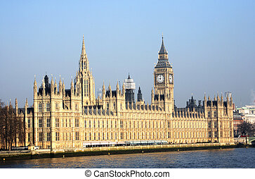 London skyline, Westminster Palace, Big Ben and Central ...